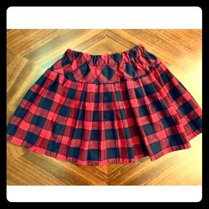 Women's red and blue plaid skirt size Large